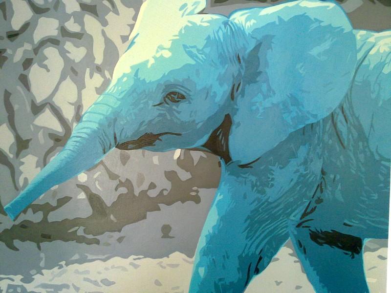 Schilderij olifant 80x80 gratis thuisbezorgd for Schilderij olifant