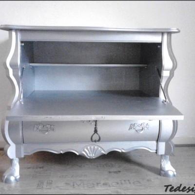zilveren buikkast