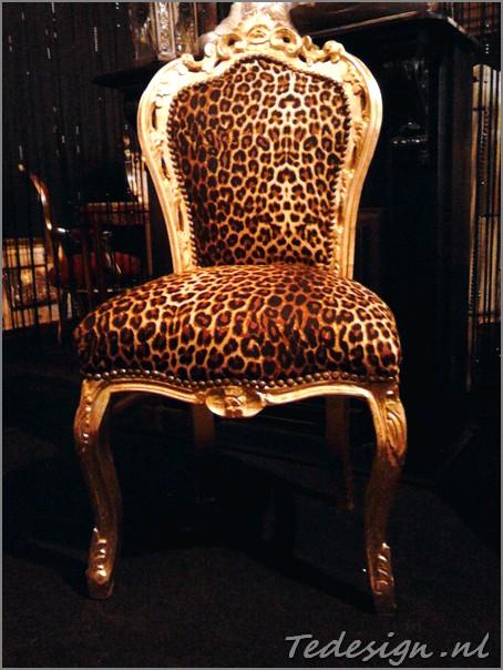 Barok eetkamer stoel panterprint for Barok stoel