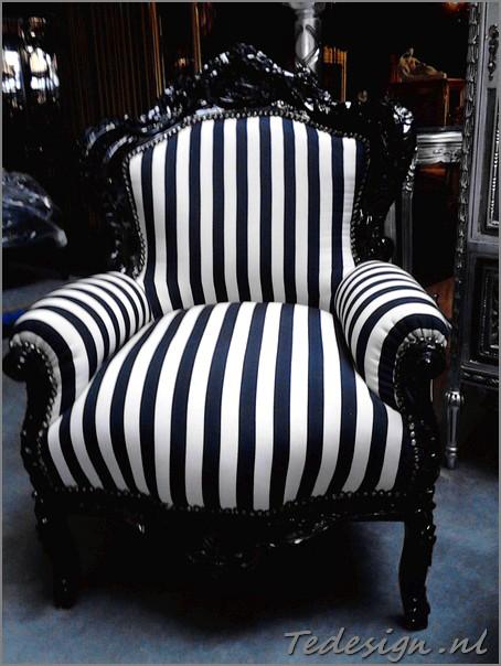 barok troonfauteuil zwart wit gratis thuisbezorgd door tedesign.nl