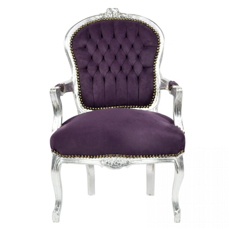 Paarse barok stoel for Paarse eetkamerstoelen