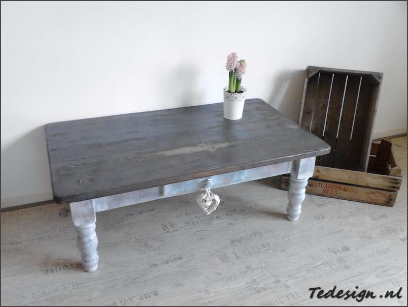 landelijke salontafel grey wash Korting!  u20ac179 gratis thuisbezorgd!