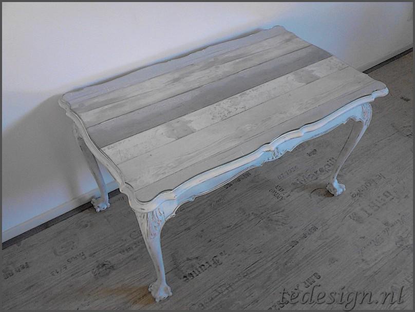 Eetkamer eetkamerstoelen korting : salontafel barok wit / White Wash met glasplaat nu korting!