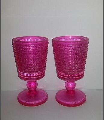 roze waxinelichthouders