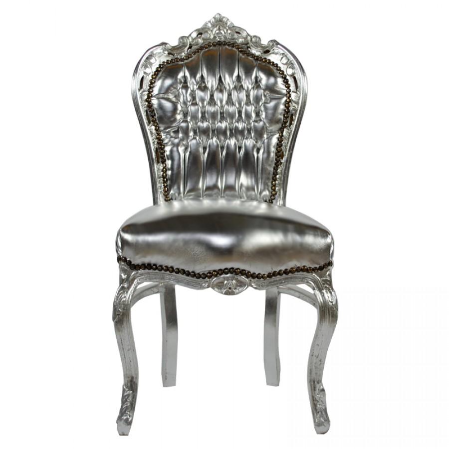 barok eetkamer stoel zilver