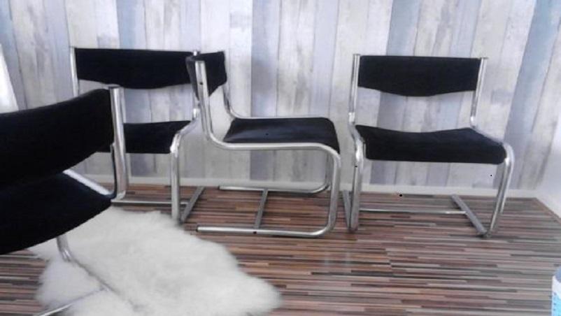Buisframe stoelen ribstof