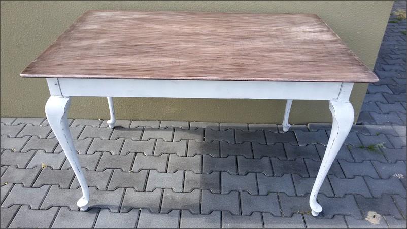 eetkamertafel wit met houten blad  consenza for ., Meubels Ideeën