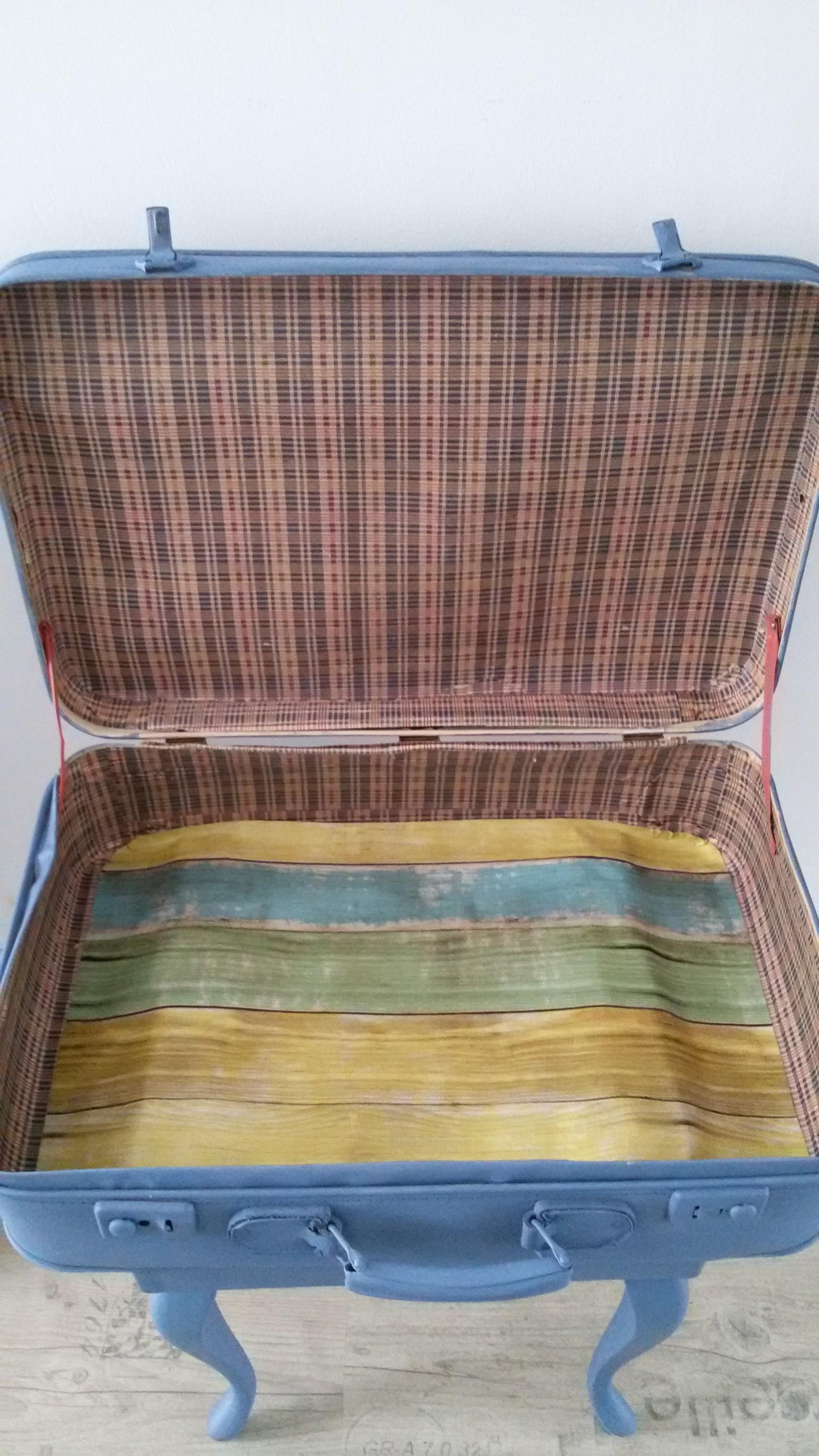 vintage koffer barok onderstel. Black Bedroom Furniture Sets. Home Design Ideas