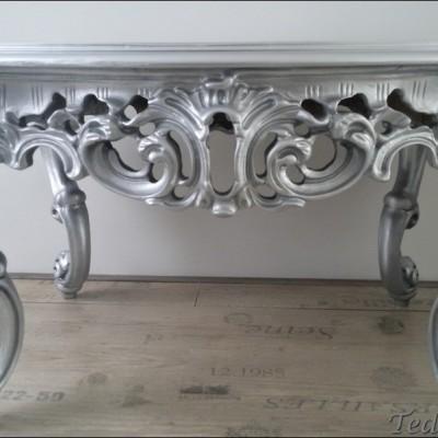 barok zilveren salontafel