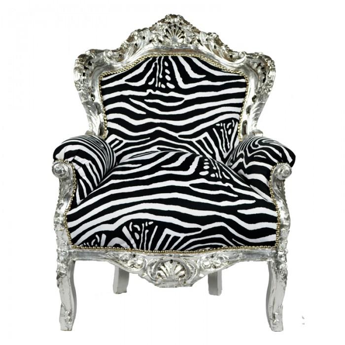 Barok troonfauteuil zebra - Stoel zebra ...