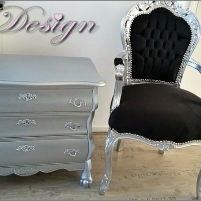 barok set buikkast en barok stoel