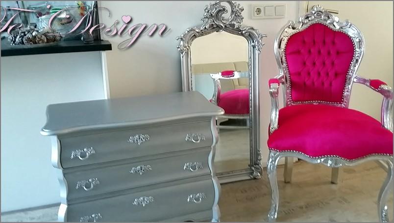 Barok set barok stoel barok spiegel en buikkast for Barok spiegel groot