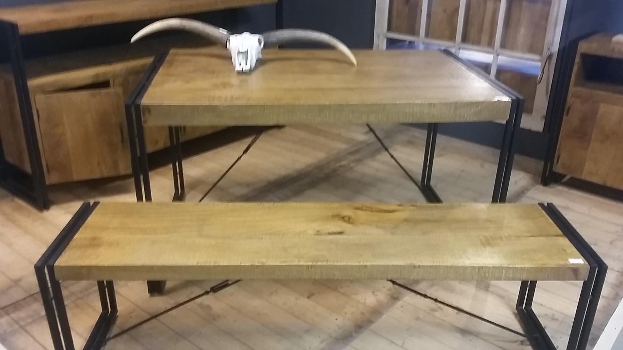 Eetkamertafel Met Bank En Stoelen : Home / Sloophouten meubels ...