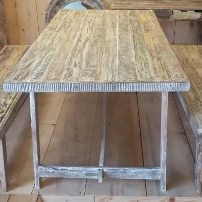 houten tafel oude look