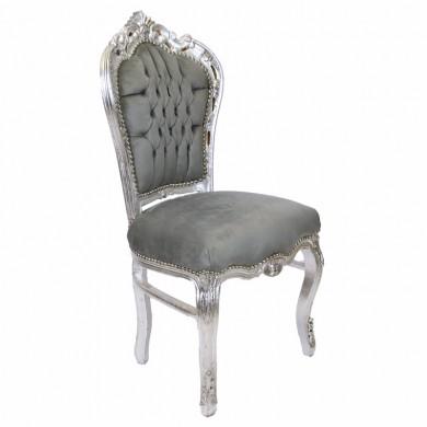 barok eetkamer stoelen grijs