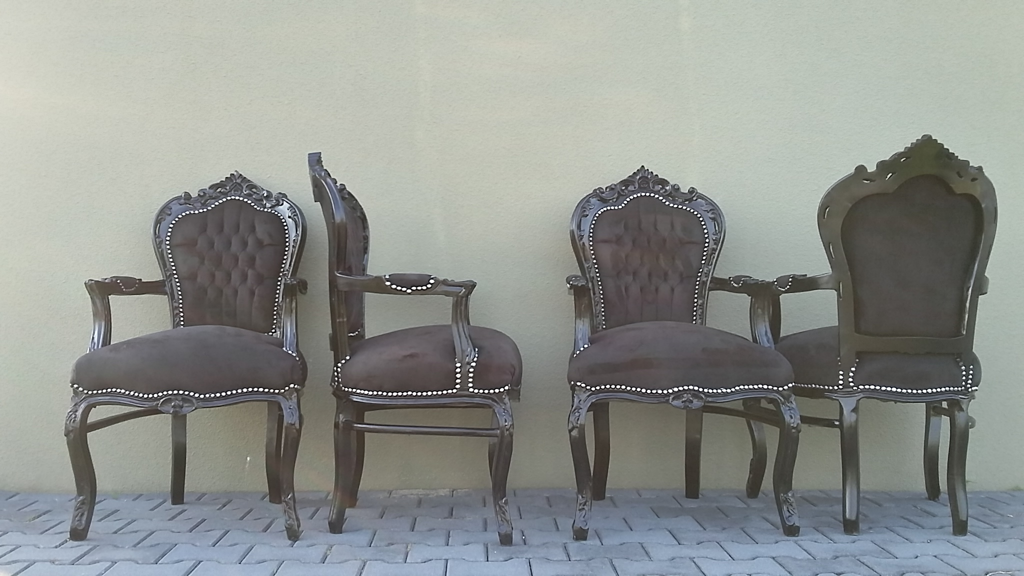Zwarte barok stoelen met armleuning nu actieprijs for Zwarte eetkamerstoelen