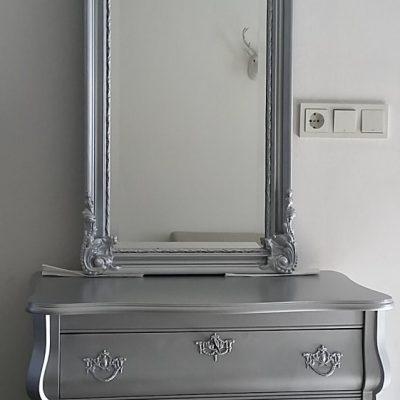 buikkast zilver barok spiegel