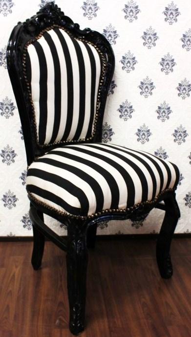 Zwart Wit Eetkamerstoelen.Barok Eetkamerstoel Zwart Wit