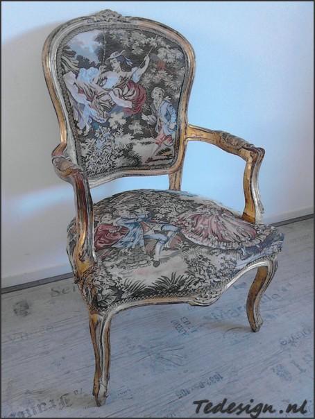 Gouden barok fauteuil op tedesign gratis thuisbezorgd for Tweedehands eetkamerstoelen