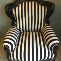 barok zetel zwart wit
