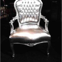 barok stoelen in zilver