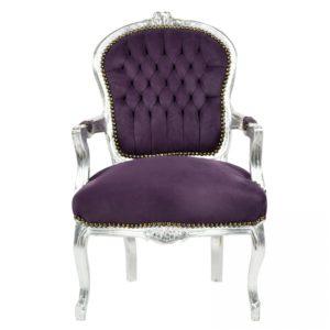 barok stoel dames paars