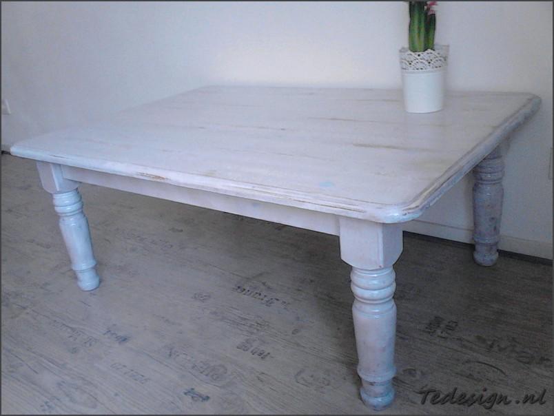 White Wash Eettafel Met Stoelen.Landelijke Salontafel White Wash 99 Gratis Thuisbezorgd