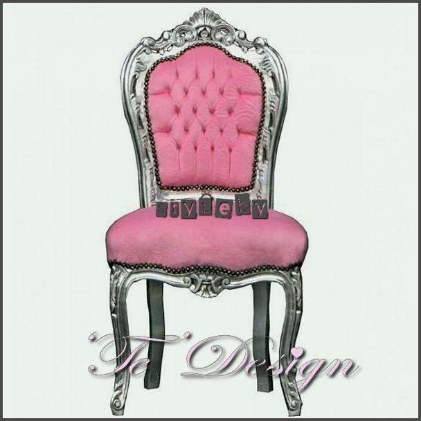Barok stoel roze bestel gemakkelijk online via ideal for Tweedehands eetkamerstoelen