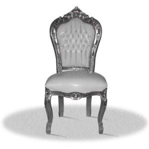 witte barok stoel zonder armleuning