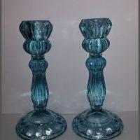 glazen kandelaars