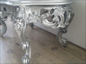 zilveren barok salontafel
