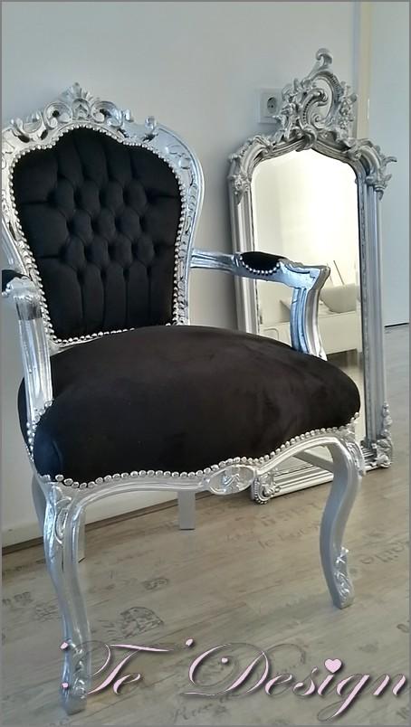 barok stoel met spiegel
