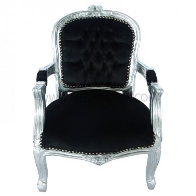 barok kinder stoel zwart