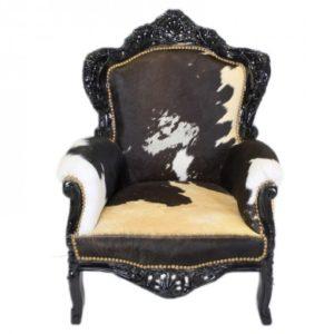 koeienhuid barok fauteuil