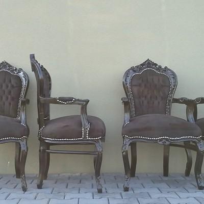 zwarte barok stoelen