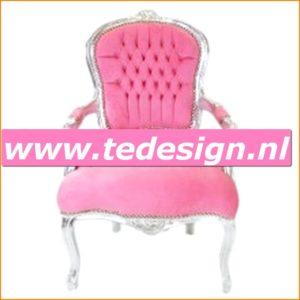 ladychair-zilver-roze