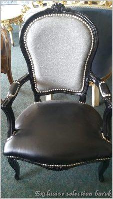 barok exclusive zwarte barok stoel