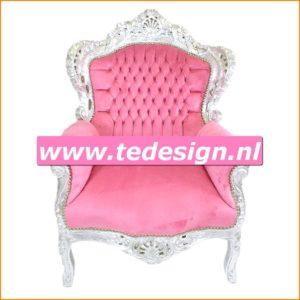 roze barok troon