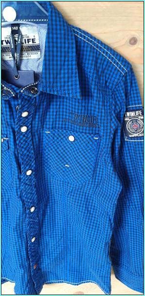 twinlife blauwe blouse