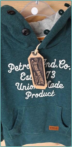 petrol vintage trui