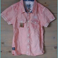 petrol vintage roze jongens maat 152 blouse