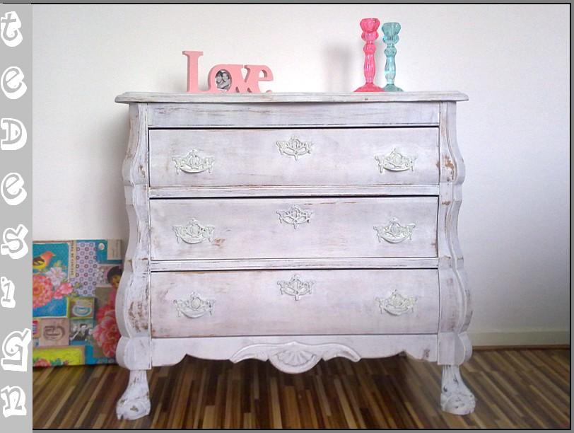 White Wash Kast : Kast barkast bergamo white wash hout deba meubelen